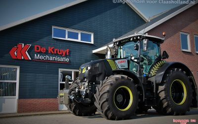 De Kruyf Mechanisatie levert een Zwarte Axion 850 Cmatic af.