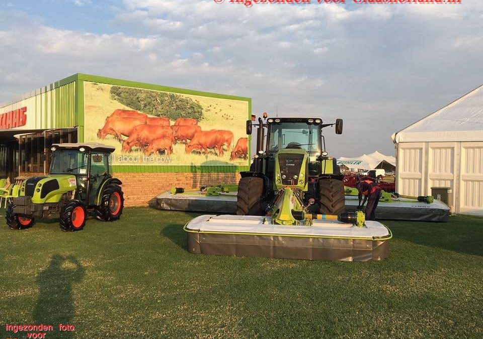 Claas op Nampo 2017 in Zuid Afrika Claas on Nampo 2017 in South Africa.